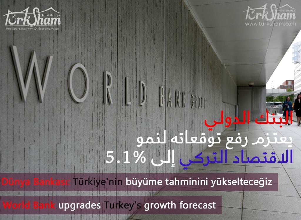 البنك الدولي يعتزم رفع توقعاته لنمو الاقتصاد التركي إلى 5.1%