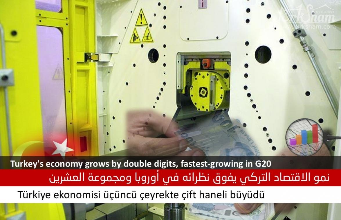 نمو الاقتصاد التركي يفوق نظرائه في أوروبا ومجموعة العشرين