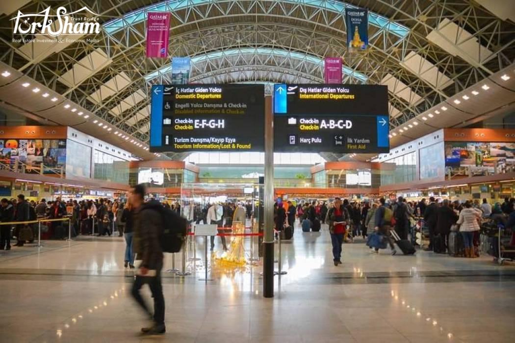 مطارات إسطنبول تخدم 6.5 مليون مسافرجديد
