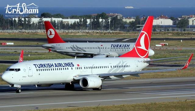 عودة الطيران التركي إلى المطار العراقي الدولي بعد انقطاع دام عام ونصف العام