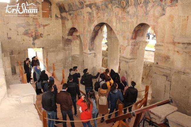 كنيسة أندافال الأثرية تفتتح في ولاية نيغدة التركية بعد استكمال الترميمات عليها