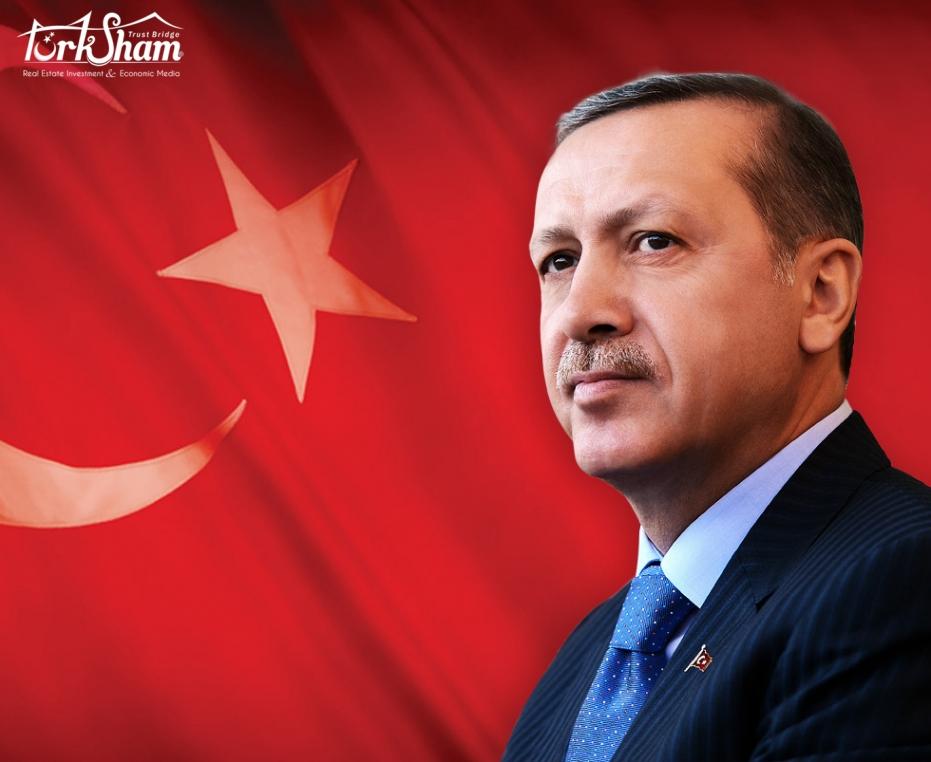 الرئيس التركي أردوكان ارتفاع  بنسب الصادرات في الشهر الرابع :