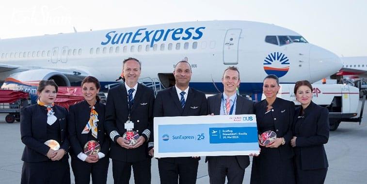 شركة طيران صن إكبريس أفضل شركة طيران منخفض التكلفة في تركيا
