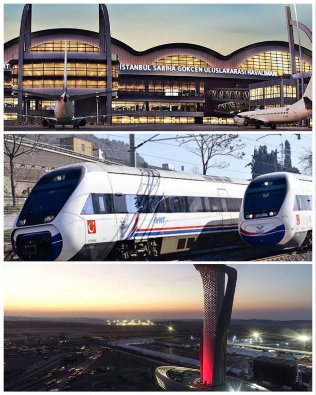 قطار سريع يربط بين مطار إسطنبول ومطار صبيحة قريبا..
