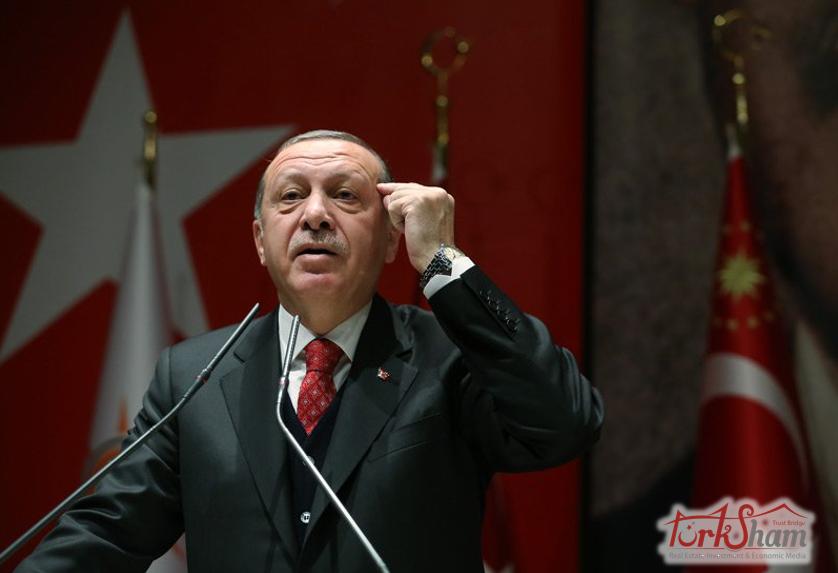 أردوغان. بتوجب الاستمرار في خفض الفائدة تدريجيا حتى آخر السنة