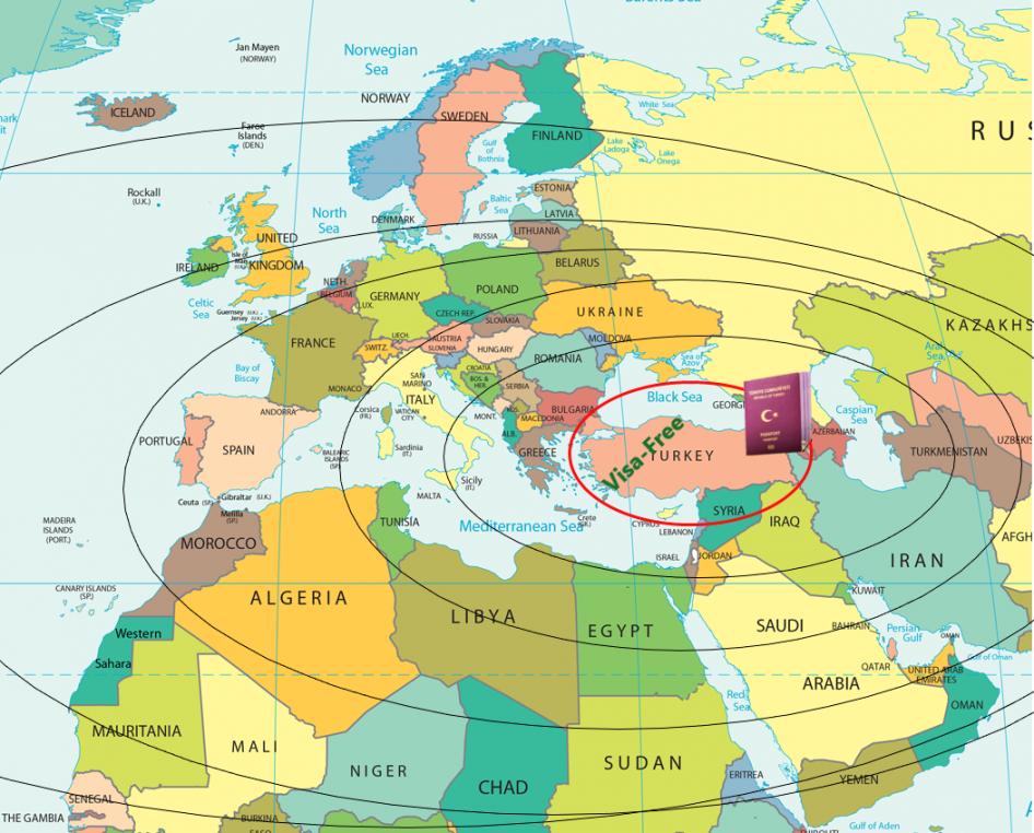 دول تضمن دخولها تركيا بدون تأشيرة