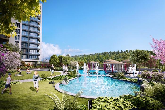 إعلان رقم 189:  تملك شقة فاخرة في قلب اسطنبول الاوروبية في منطقة استثمارية سياحية خدمية بامتياز.